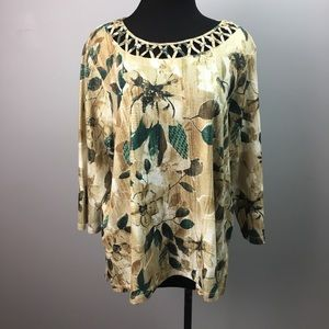 Alfred Dunner floral woman's top